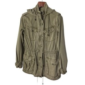 TALULA TROOPER Army Green Cotton Utility Jacket S